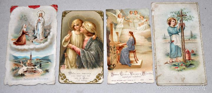 Postales: LOTE DE 59 ESTAMPAS RELIGIOSAS - Foto 3 - 57865960