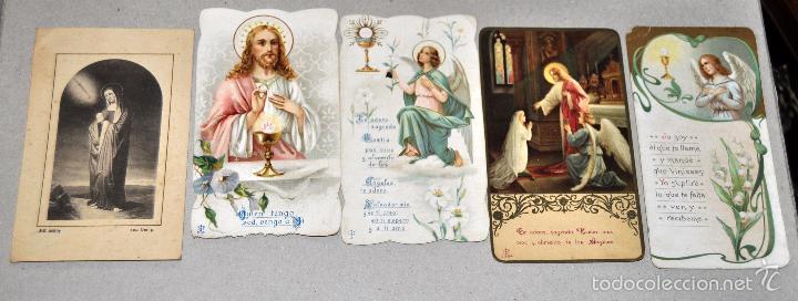 Postales: LOTE DE 59 ESTAMPAS RELIGIOSAS - Foto 5 - 57865960