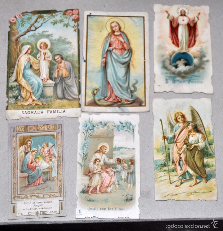 Postales: LOTE DE 59 ESTAMPAS RELIGIOSAS - Foto 6 - 57865960