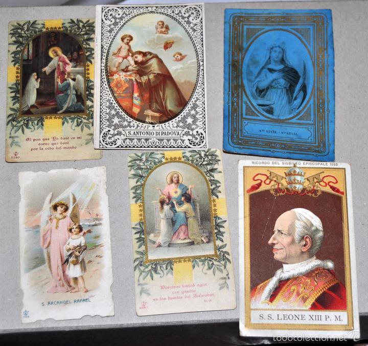 Postales: LOTE DE 59 ESTAMPAS RELIGIOSAS - Foto 8 - 57865960