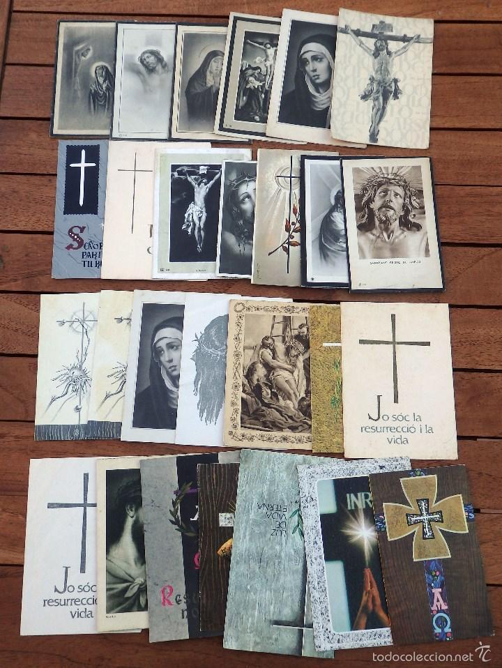 LOTE DE 29 RECORDATORIOS DE DEFUNCION DE VARIAS EPOCAS (Postales - Postales Temáticas - Religiosas y Recordatorios)