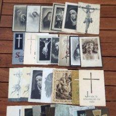Postales: LOTE DE 29 RECORDATORIOS DE DEFUNCION DE VARIAS EPOCAS. Lote 57895426