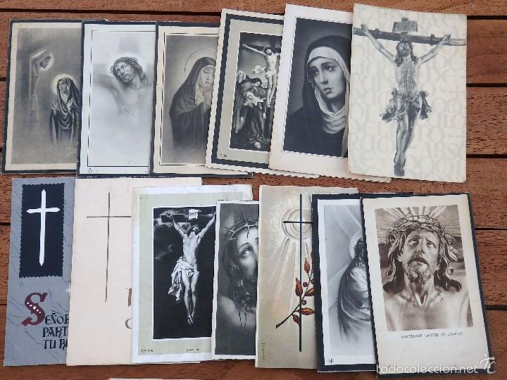 Postales: LOTE DE 29 RECORDATORIOS DE DEFUNCION DE VARIAS EPOCAS - Foto 2 - 57895426