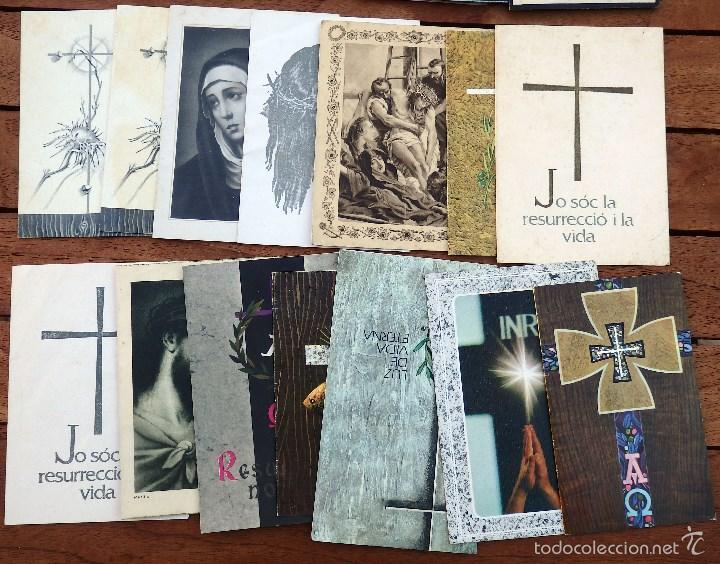 Postales: LOTE DE 29 RECORDATORIOS DE DEFUNCION DE VARIAS EPOCAS - Foto 3 - 57895426