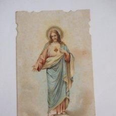 Postales: ESTAMPA CORAZON DE JESUS - PROMESAS DE NUESTRO SEÑOR JESUCRISTO - 1899. Lote 58049925