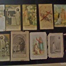 Postales: COLECCIÓN DE ESTAMPAS Y MOTIVOS RELIGIOSOS EN PAPEL, DIVERSOS Y MUY ANTIGUOS . VER FOTOS Y DETALLE. Lote 58137179