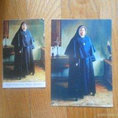 Postales: 2 POSTALES O RECORDATORIOS RELIGIOSOS, GENOVEVA TORRES MORALES. Lote 58144483