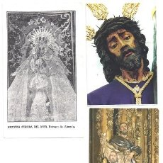 Postales: ESTAMPAS RELIGIOSAS ANTIGUAS(DOS IMAGENES DE ALMERIA. Lote 58189753