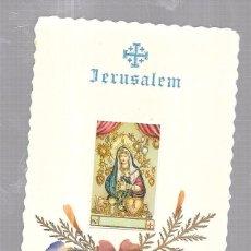 Postales: ESTAMPA RELIGIOSA. JERUSALEN. FLORES DE TIERRA SANTA. Lote 58240037