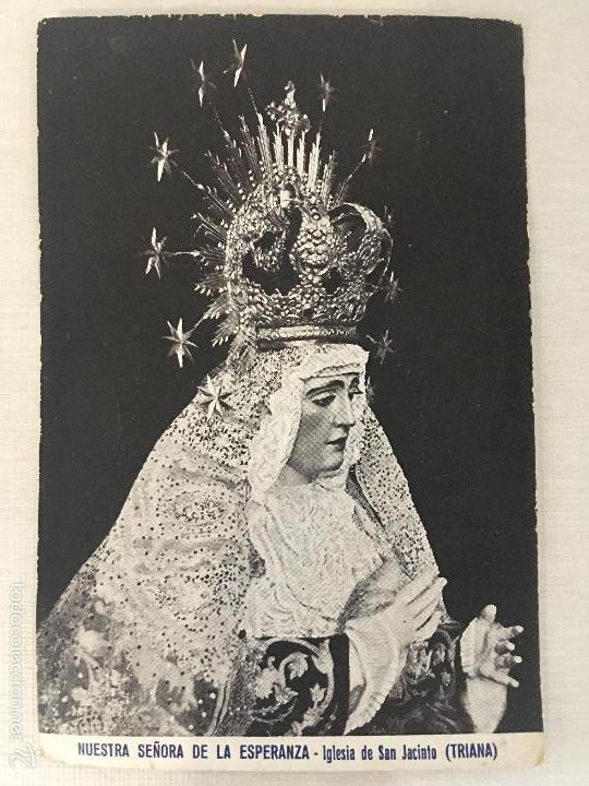 ANTIGUA ESTAMPA, NUESTRA SEÑORA DE LA ESPERANZA, IGLESIA DE SAN JACINTO, SEVILLA (Postales - Postales Temáticas - Religiosas y Recordatorios)