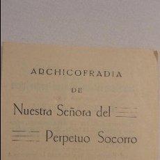 Postales: SOLEMNE NOVENA ARCHICOFRADIA NTRA.SRA DEL PERPETUO SOCORRO.GIJON.1934. Lote 58269681