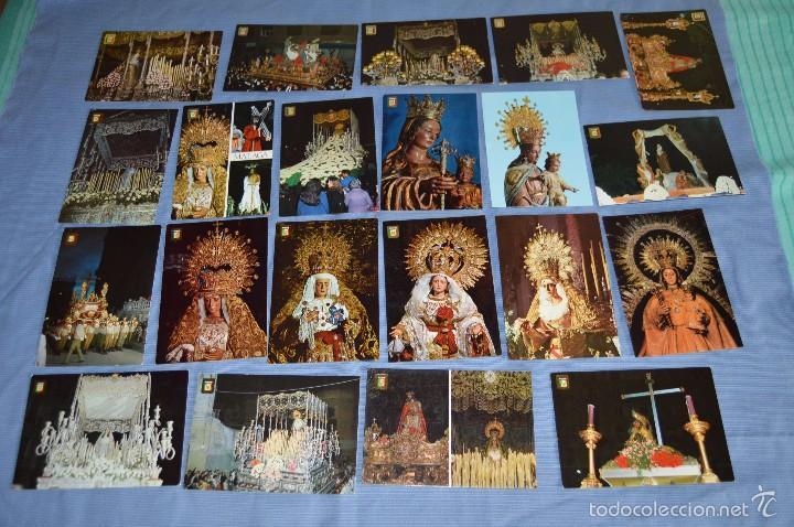 LOTE 21 POSTALES SIN CIRCULAR - SEMANA SANTA DE MÁLAGA - VARIADAS - MUY BUEN ESTADO (Postales - Religiosas y Recordatorios)