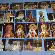 Postales: LOTE 21 POSTALES SIN CIRCULAR - SEMANA SANTA DE MÁLAGA - VARIADAS - MUY BUEN ESTADO. Lote 71833083