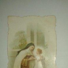 Postales: SANTA TERESA DE JESUS ESTAMPA DEL AÑO 1900. Lote 58524257