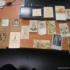 Postales: LOTE DE RECORDATORIOS DE COMUNIONDESDE 1928 A LOS AÑOS 50. Lote 58533611