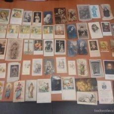 Postales: LOTE 57 ESTAMPAS, POSTALES Y ORACIONES DE SANTOS, DESDE 1923 HASTA 1964, SON LAS FECHAS QUE PONEN. Lote 58533657