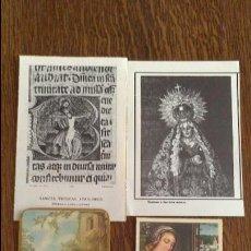 Postales: ESTAMPAS , ESTAMPITAS , RECORDATORIOS . Lote 58081558