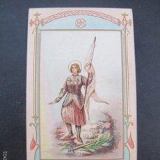 Postales: ESTAMPA RELIGIOSA ANTIGUA SANTA JUANA DE ARCO JEANNE ARC FRANCIA. Lote 59826556