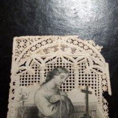 Postales: ESTAMPA RELIGIOSA TROQUELADA. TURGIS E HIJOS. EDITORES. PARIS. 1025. Lote 60728763