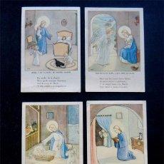 Postales: 5 ESTAMPAS RELIGIOSAS DIFERENTES DE LA MISMA SERIE / AÑOS 50. Lote 60770657