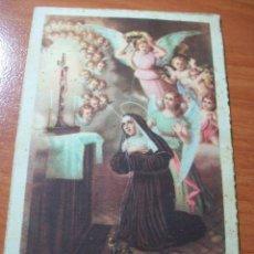 Postales: ESTAMPA DE SANTA RITA DE CASIA. PATRONA DE LOS IMPOSIBLES. Lote 60789003