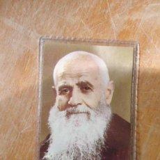 Postales: RELIQUIA FRAY LEOPOLDO DE ALPANDEIRE , ESTAMPA FOURNIER PLASTIFICADA 1977. Lote 61460051