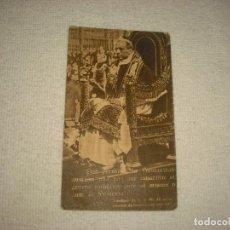Postales: PIO XII . MENSAJE DE NAVIDAD 1943 . DETRAS EXPLICA COMO EL PAPA DA SU BENDICION A FRANCO. Lote 61948408