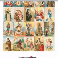 Postales: BLOQUE DE 20 MINI ESTAMPAS RELIGIOSAS MAS UNA TROQUELADA. Lote 151870520