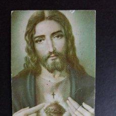 Postales: ESTAMPA RELIGIOSA COR JESU SACRATISSIMUM. Lote 62498740