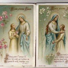 Postales: DOS ESTAMPAS RELIGIOSAS BOUASSE LABEL PARIS. VIRGEN MARÍA MADRE. 11 X 7 CM . Lote 62604964