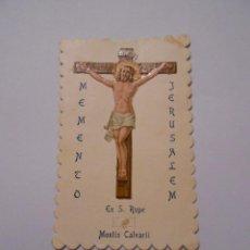 Postales: ESTAMPA RELIGIOSA MEMENTO JERUSALEM. MONTIS CALVARII. TDKP8. Lote 206899995