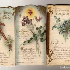 Postales: LOTE DE 3 BONITAS ESTAMPAS RELIGIOSAS. 11 X 6 CM. Lote 62816120