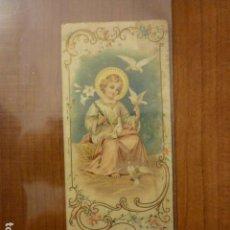 Postales: ESTAMPA RELIGIOSA CON PUBLICIDAD CHOCOLATE JUNCOSA.. Lote 63977919