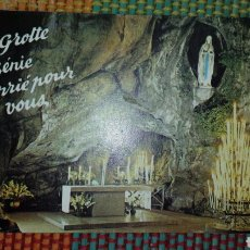 Postales: POSTAL CIRCULADA GRUTA MILAGROSA DE LOURDES- MATASELLOS Y SELLO FRANCIA. Lote 64466178