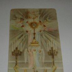 Postales: RECORDATORIO RELIGIOSO. ADORACIÓN NOCTURNA. CÁDIZ. 1960. Lote 65326871