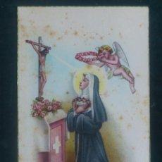 Postales: POSTAL RELIGIOSA, MONJA REZANDO. Lote 65818534