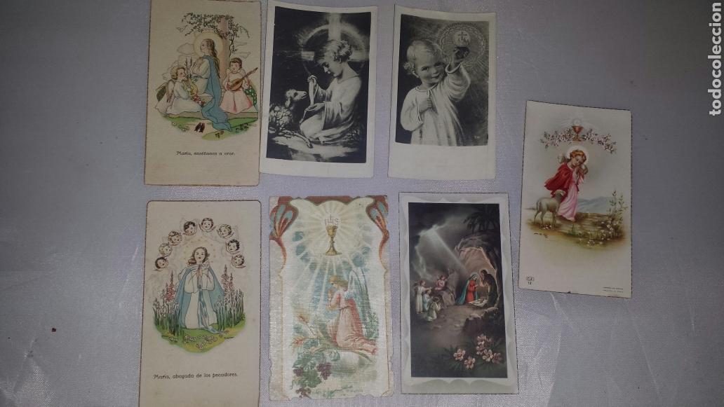 7 ESTAMPAS MI PRIMERA COMUNIÓN. AÑOS 50 (Postales - Postales Temáticas - Religiosas y Recordatorios)