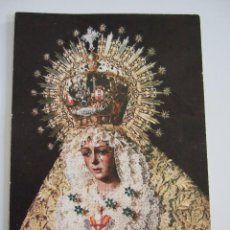 Postales: ESTAMPA VIRGEN DE LA ESPERANZA MACARENA - SEVILLA - SALVE. Lote 66138194