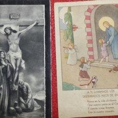 Postales: ANTIGUO RECORDATORIO DE FALLECIMIENTO Y PRIMERA COMUNIÓN AÑO 41 Y 52. Lote 66172423