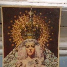 Postales: LAMINA CARTON 24 X 18 RELIEVE CORONA Y MANOS SEMANA SANTA SEVILLA VIRGEN DE LA ESPERANZA MACARENA . Lote 67278981