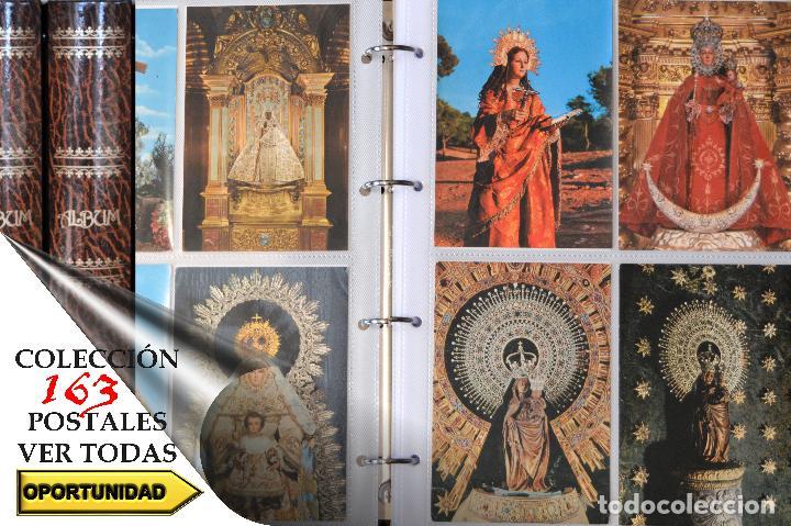 COLECCIÓN 163 POSTALES RELIGIOSA LA VIRGEN, CRISTO PAPA EN ÁLBUM CON HOJAS VER TODAS EN FOTOGRAFIAS (Postales - Postales Temáticas - Religiosas y Recordatorios)