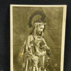 Postales: POSTAL FOTOGRÁFICA ANTIGUA DE VIRGEN CORAZÓN DE MARÍA SIN CIRCULAR. Lote 67595533