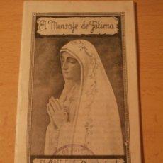 Postales: RECORDATORIO RELIGIOSO CORAZON DE MARIA.JUVENTUDES DE FALANGE. Lote 67748805