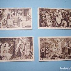 LOTE DE 4 CROMOS O ESTAMPAS DE TEMAS RELIGIOSOS