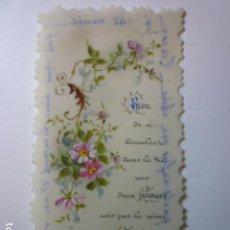 Postales: ESTAMPA RELIGIOSA TROQUELADA DE PLÁSTICO PINTADA A MANO. AÑO 1903.. Lote 68265125