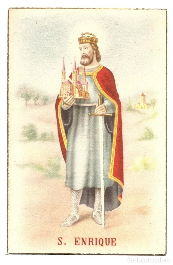 POSTAL DE SAN ENRIQUE MANUSCRITA SIN CIRCULAR (Postales - Postales Temáticas - Religiosas y Recordatorios)