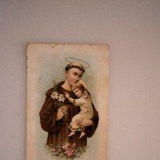 Postales: PRECIOSA ESTAMPITA SAN ANTONIO DE PADOVA. PRIMERA MISA ANTONIO FORTEZA, ONTENIENTE 1907. Lote 69572545