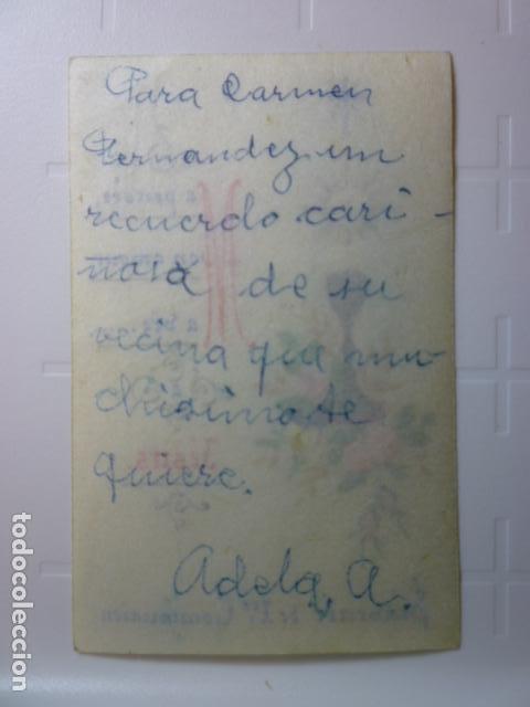 Postales: ESTAMPA RELIGIOSA PINTADA Y ESCRITA A MANO. - Foto 2 - 70163445