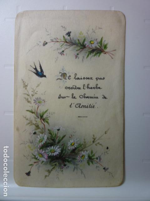 ESTAMPA RELIGIOSA PINTADA A MANO. AÑO 1903. (Postales - Postales Temáticas - Religiosas y Recordatorios)