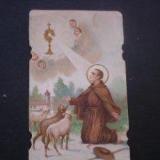 Postales: ESTAMPA RELIGIOSA, CROMOLITOGRAFIADA, SAN PASCUAL BAYLON. Lote 70224993